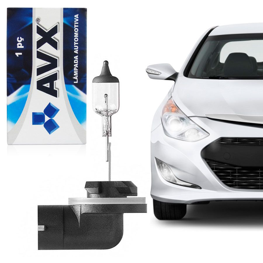 Lâmpada Avionix H27 12V 27W Farol Milha Kia Hyundai Unidade  - AutoParts Online