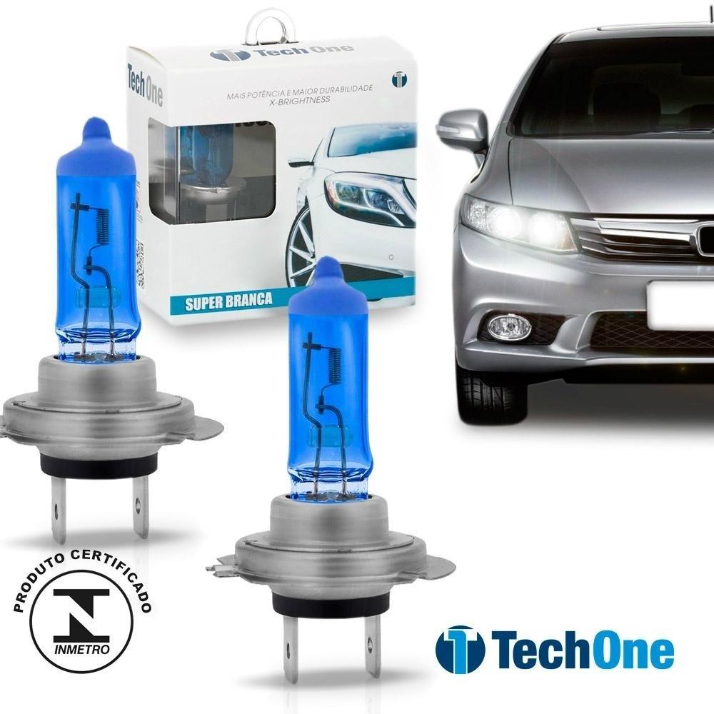 Lâmpada TechOne H7 12V 55W Super Branca Par  - AutoParts Online