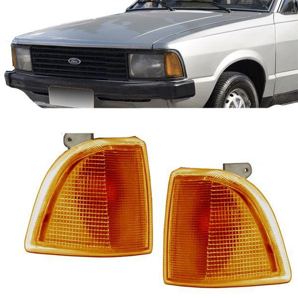 Lanterna Dianteira Pisca Ford Corcel Belina Del Rey Pampa 1985 em Diante Ambar Lado Direito  - AutoParts Online