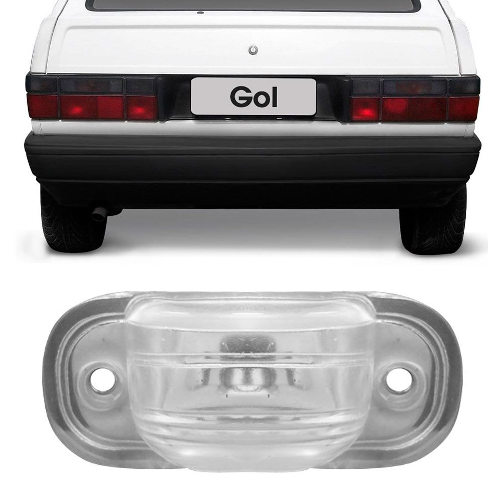 Lanterna Luz de Placa Vw Gol Voyage Parati Saveiro 1983 a 1995 Kombi 1983 a 1997 LS224  - AutoParts Online