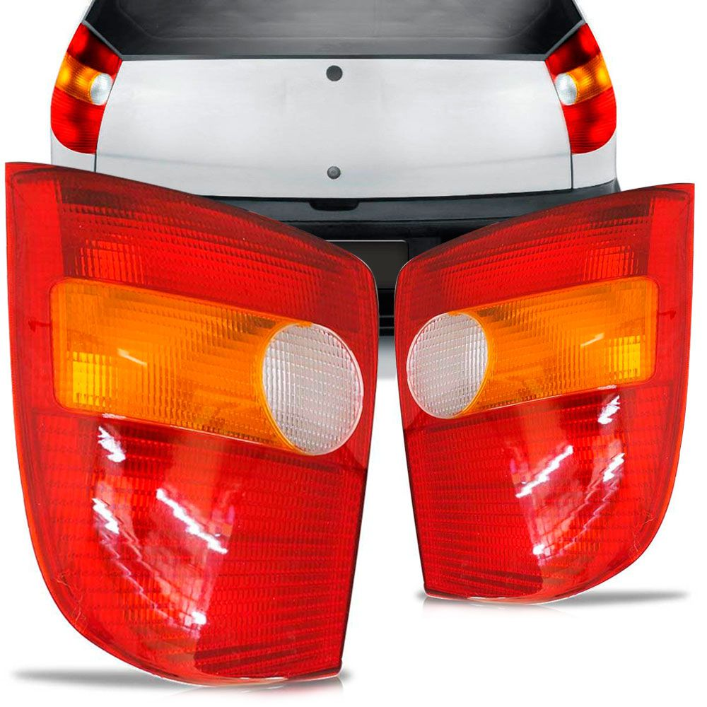 Lanterna Traseira Fiat Palio 1996 a 2000 Tricolor Lado Direito 35124  - AutoParts Online