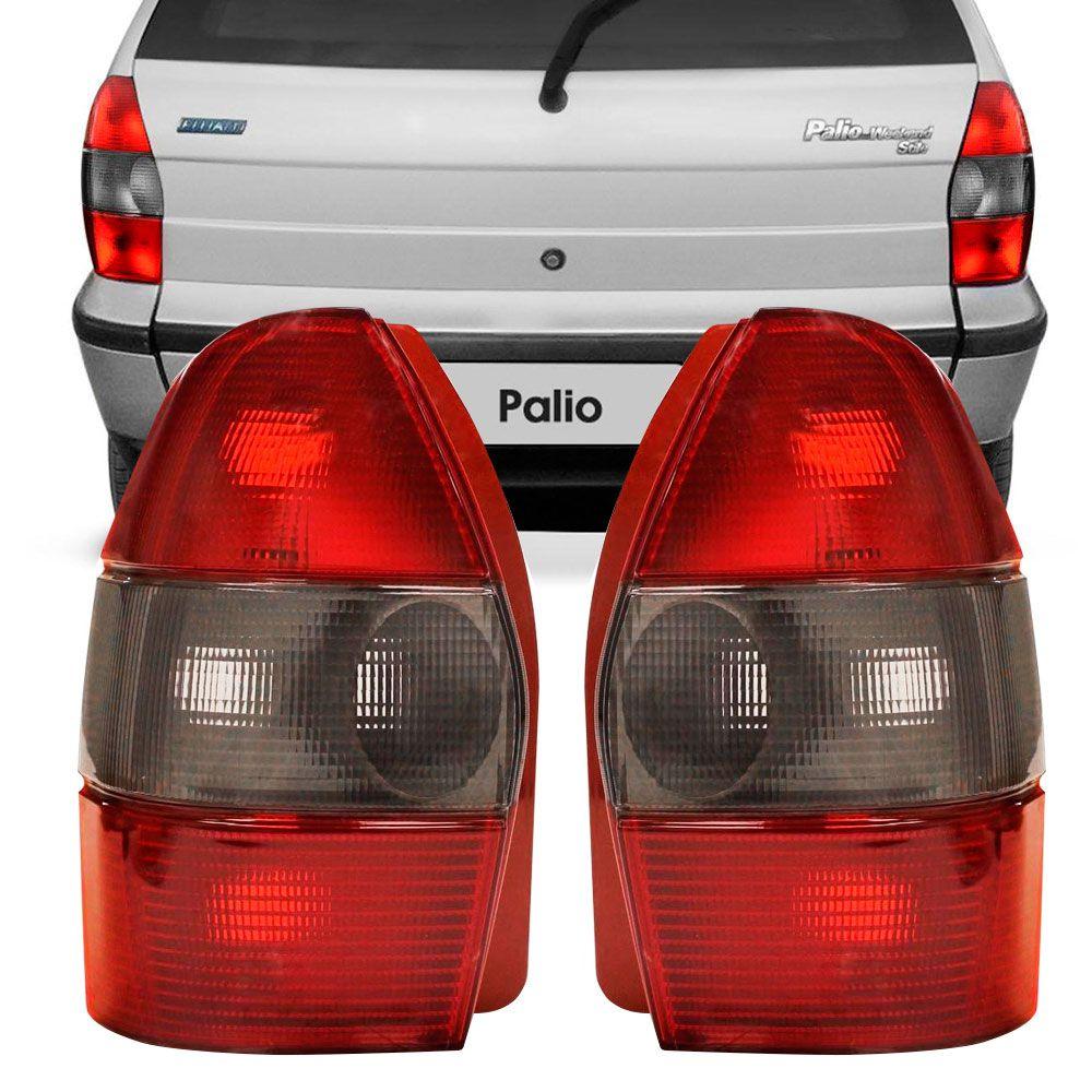 Lanterna Traseira Fiat Palio Weekend 1996 a 2000 Ré Fumê Lado Direito 252431  - AutoParts Online