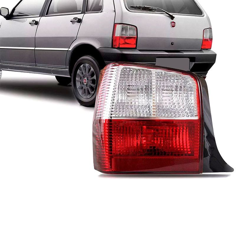 Lanterna Traseira Fiat Uno Mille 2004 a 2011 Bicolor Lado Esquerdo  - AutoParts Online