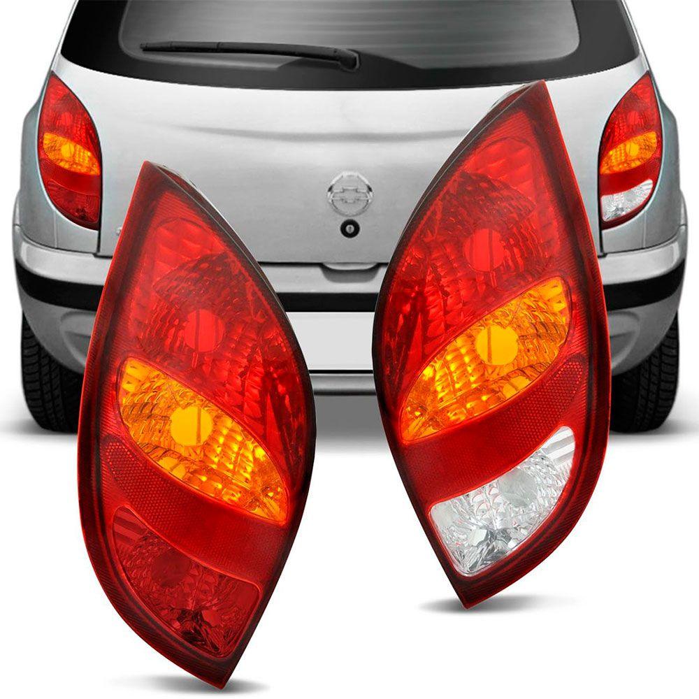 Lanterna Traseira Gm Celta 2000 a 2005 Bicolor Sem Luz de Ré Lado Esquerdo  - AutoParts Online