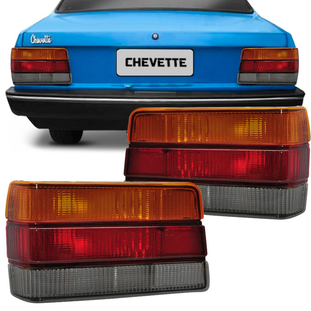 Lanterna Traseira Gm Chevette 1987 a 1993 Tricolor Fumê Lado Direito 87090  - AutoParts Online