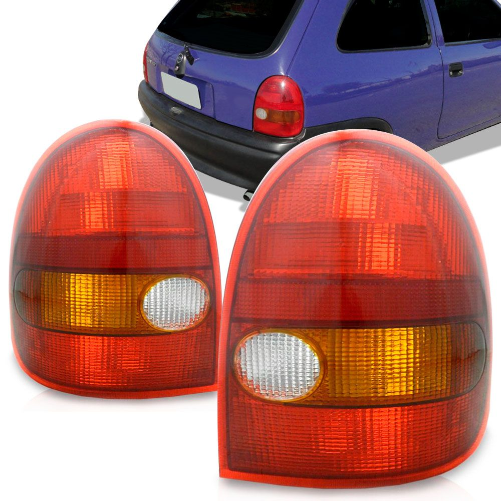 Lanterna Traseira Gm Corsa 2 Portas 1994 a 1999 Tricolor Lado Esquerdo 2007ACR  - AutoParts Online