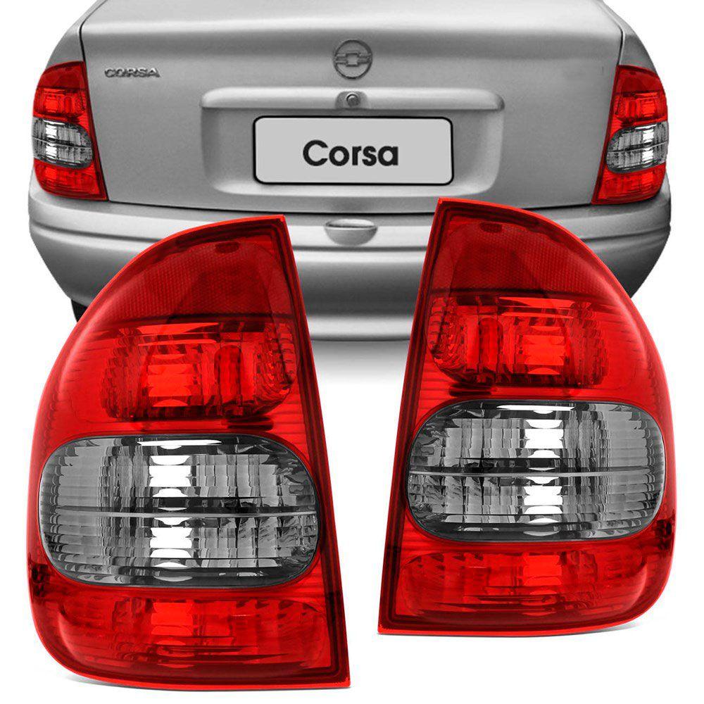Lanterna Traseira Gm Corsa Pick-up Sw 4 Portas 2000 a 2002 Bicolor Ré Fumê Lado Esquerdo 21355  - AutoParts Online