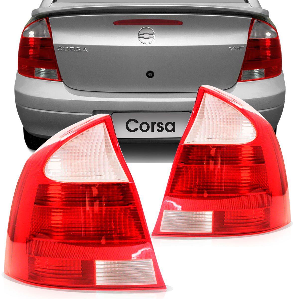 Lanterna Traseira Gm Corsa Sedan 2003 em diante Bicolor Lado Direito  - AutoParts Online