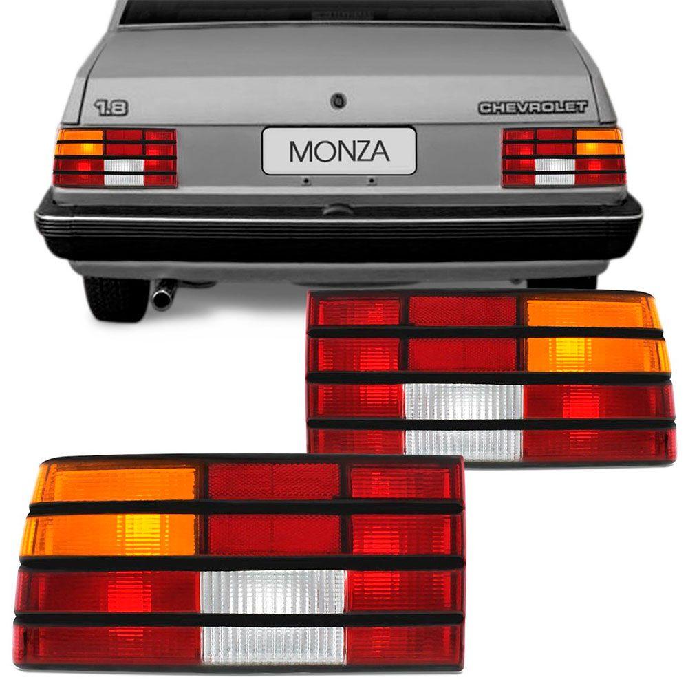 Lanterna Traseira Gm Monza 1988 a 1990 Tricolor com Friso Preto Lado Direito 31084  - AutoParts Online