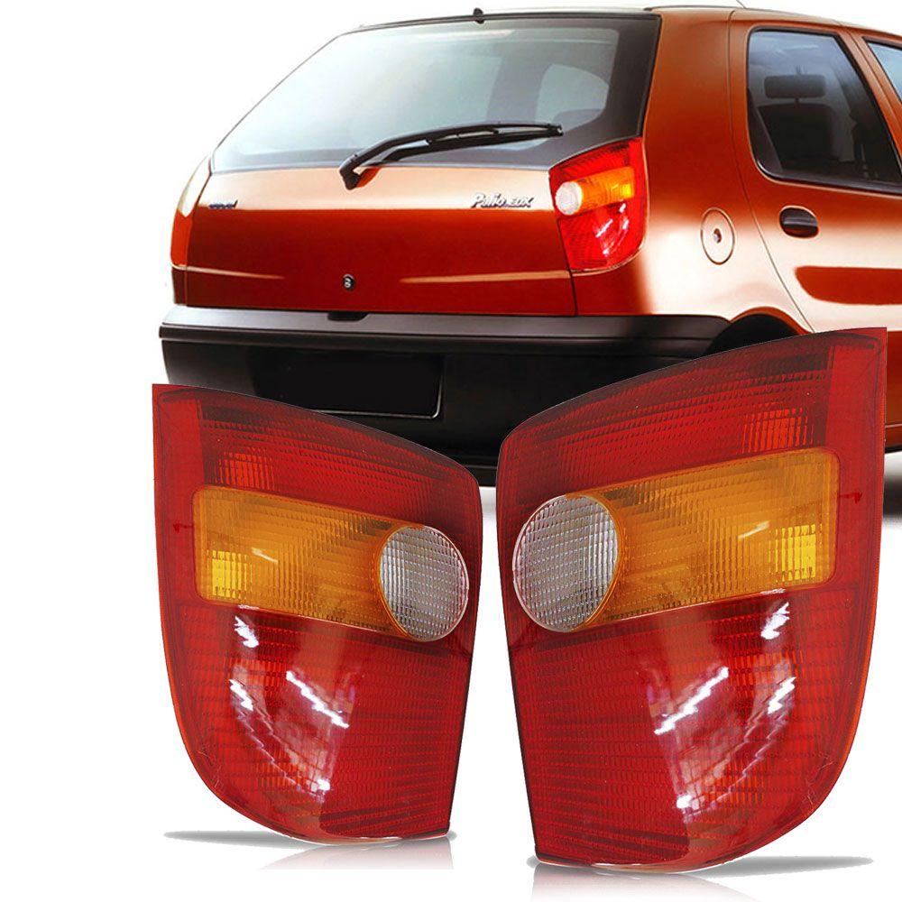 Lanterna Traseira Tricolor Fumê Fiat Palio 1996 a 2000 Lado Esquerdo  - AutoParts Online