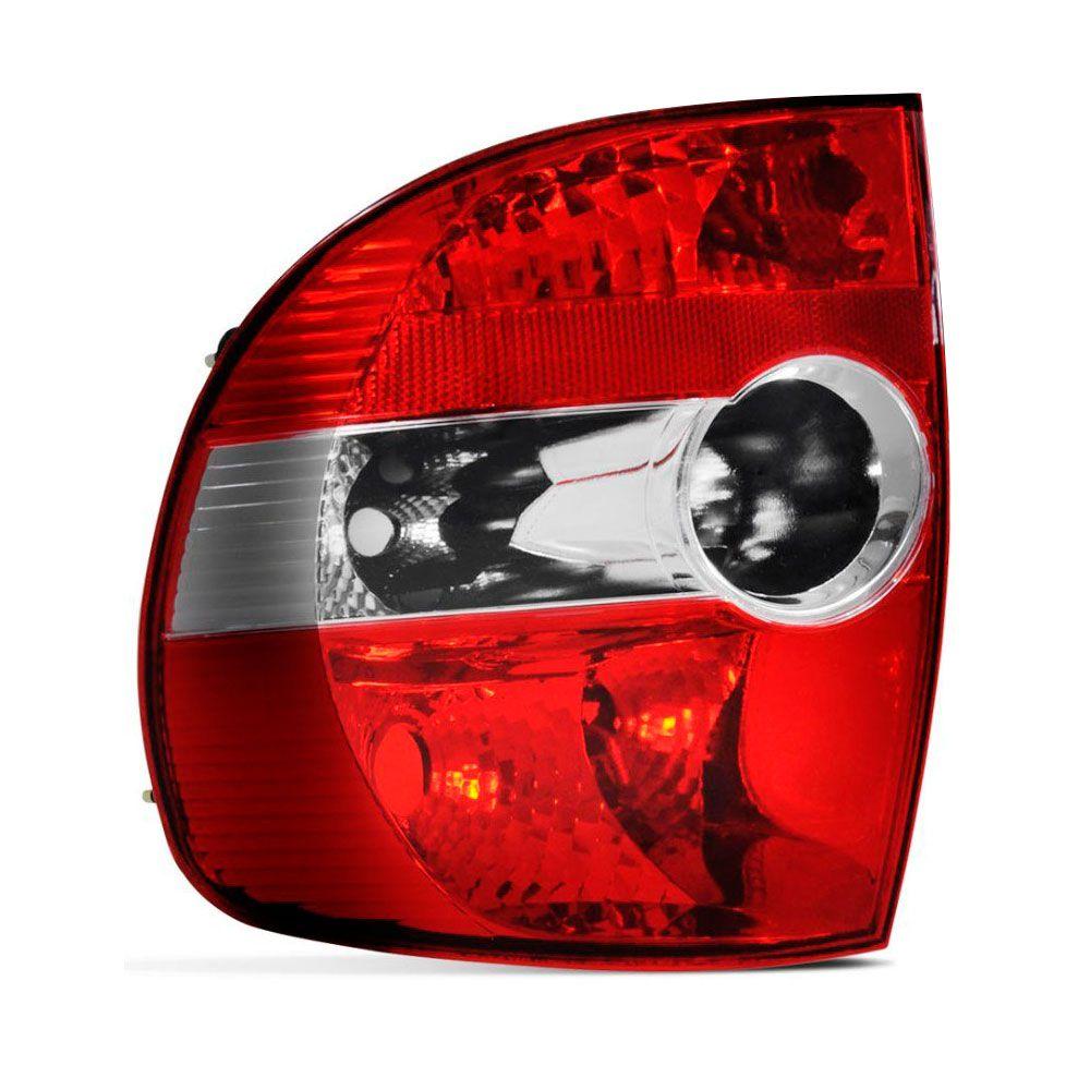 Lanterna Traseira Vw Fox CrossFox 2004 a 2009 Bicolor Pisca e Ré Cristal Lado Esquerdo  - AutoParts Online