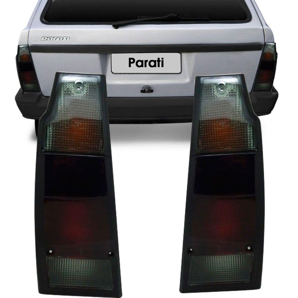 Lanterna Traseira Vw Parati Saveiro Quadrada 1987 a 1995 Fumê Lado Direito  - AutoParts Online