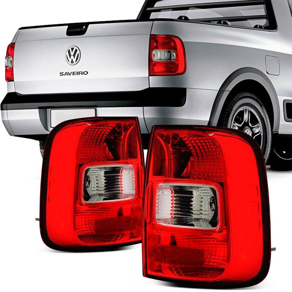 Lanterna Traseira Vw Saveiro G5 2009 a 2013 Bicolor Ré Cristal Lado Direito  - AutoParts Online
