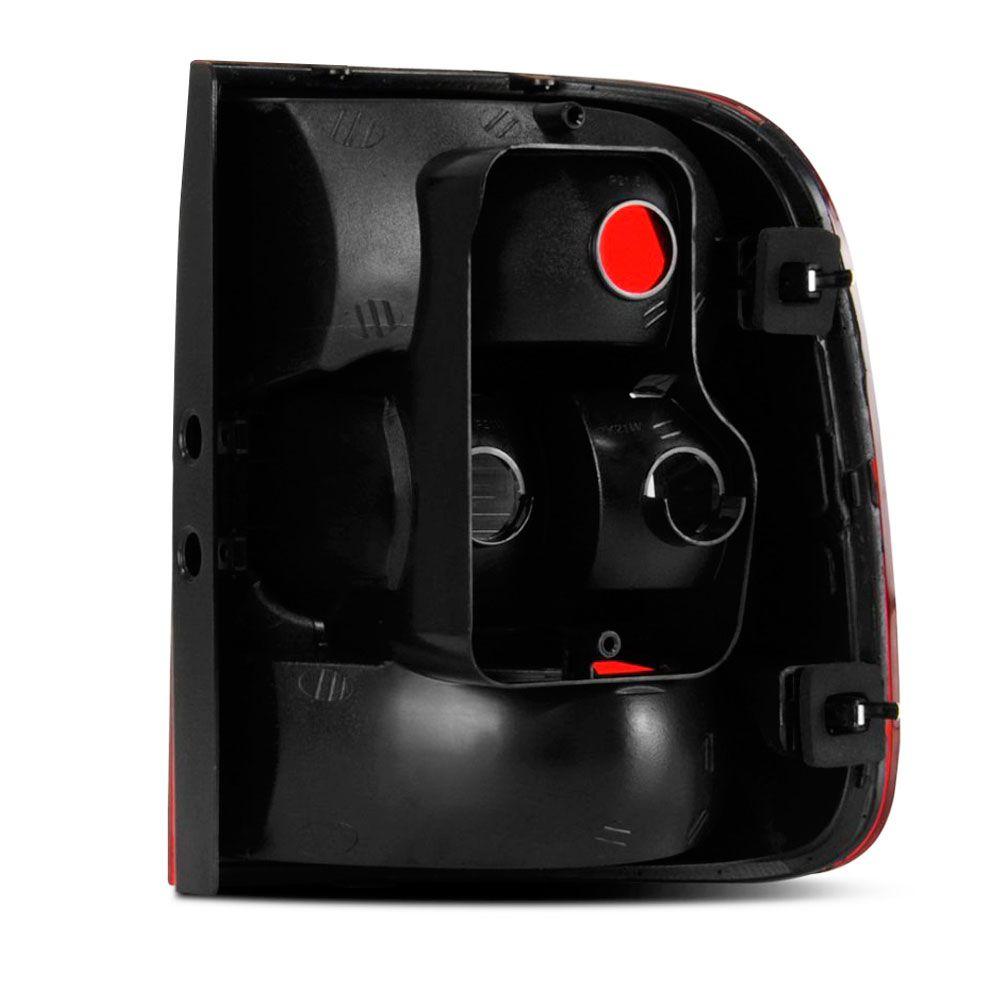 Lanterna Traseira Vw Saveiro G5 2009 a 2013 Bicolor Ré Cristal Lado Esquerdo  - AutoParts Online