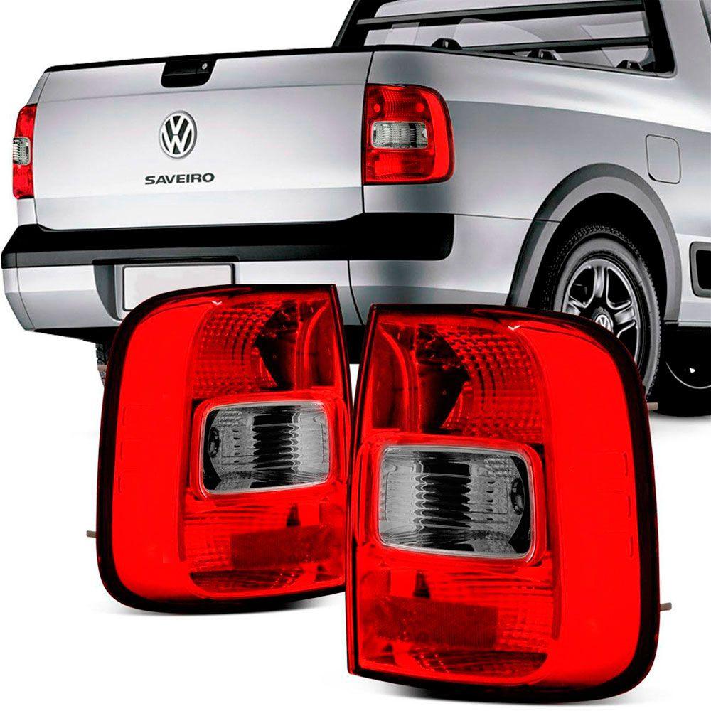 Lanterna Traseira Vw Saveiro G5 2009 a 2013 Bicolor Ré Fumê Lado Esquerdo  - AutoParts Online