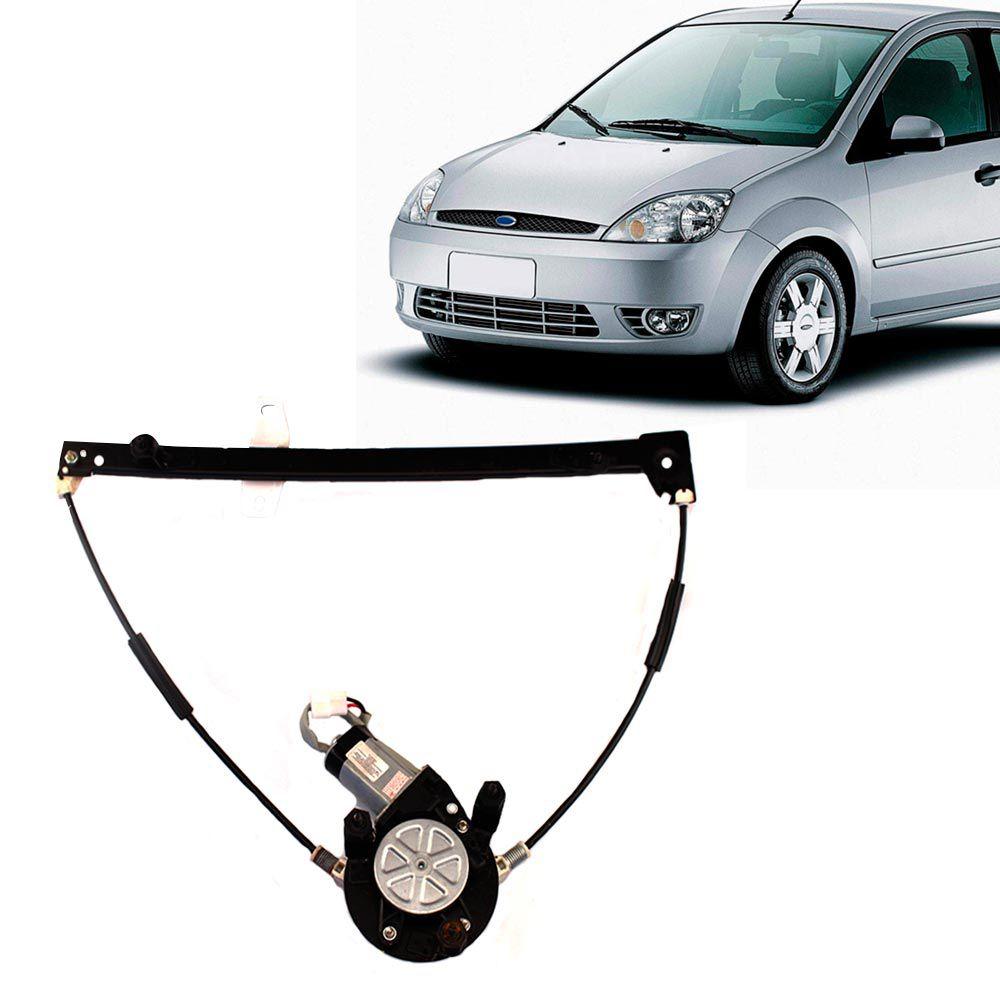 Máquina de Vidro Elétrico Ford Fiesta 4 Portas Lado Direito com Motor  - AutoParts Online