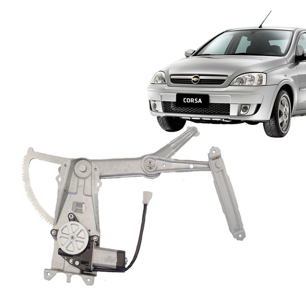 Máquina de Vidro Elétrico GM Corsa Lado Direito com Motor  - AutoParts Online