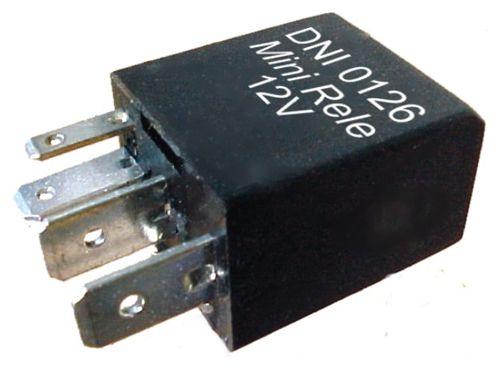 Mini rele auxiliar 12v  4 terminais  - AutoParts Online