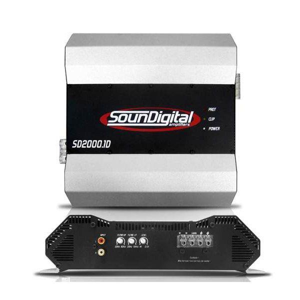 Módulo Amplificador Soundigital SD2000.1D 1 ohm + Brinde 1 Cabo RCA de 5m  - AutoParts Online