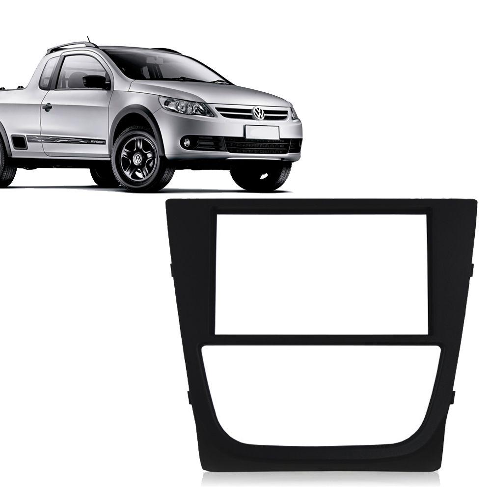 Moldura 1 e 2 Din de Painel Volkswagen Gol Saveiro Voyage G5 Preto  - AutoParts Online