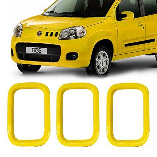 MOLDURA AUXILIAR GRADE FIAT AMARELA  - AutoParts Online