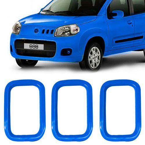 MOLDURA AUXILIAR GRADE FIAT AZUL  - AutoParts Online
