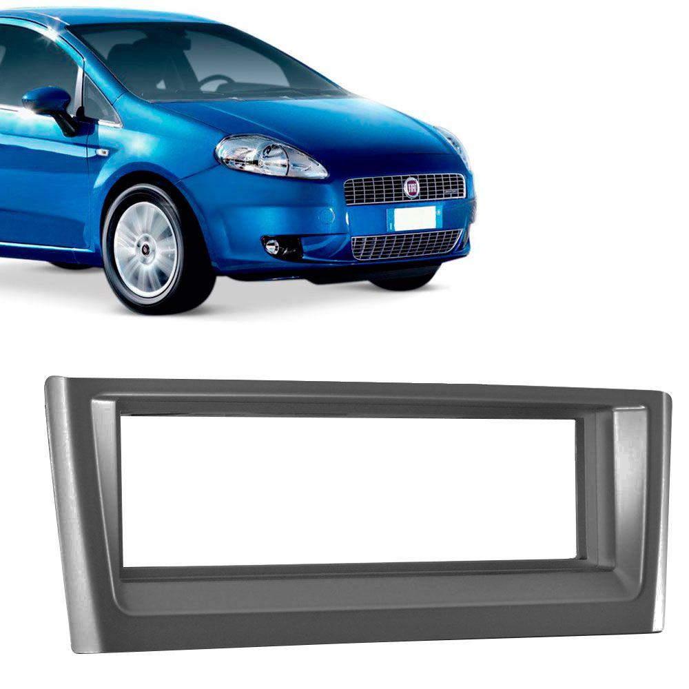 Moldura Painel 1 Din Fiat Punto 2007 a 2012 black piano  - AutoParts Online
