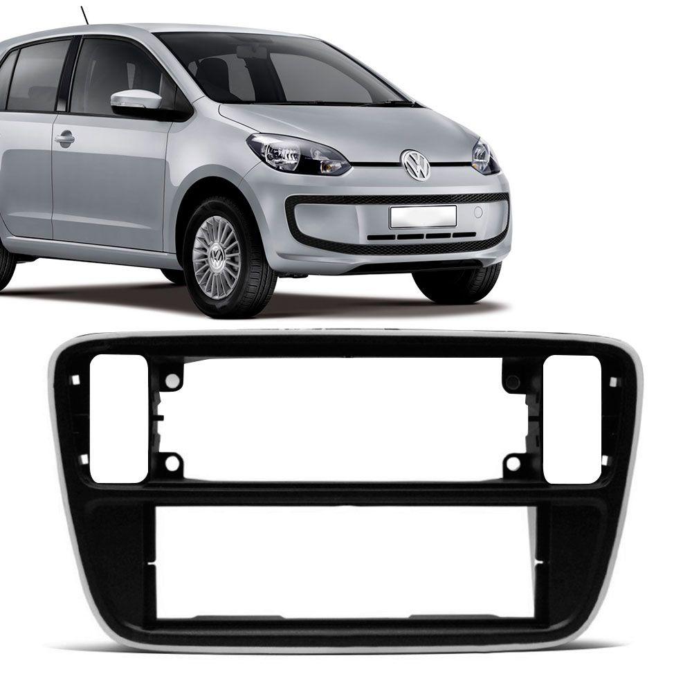 Moldura Painel 1 Din Volkswagen Up 2014 Preto com Borda Branca  - AutoParts Online