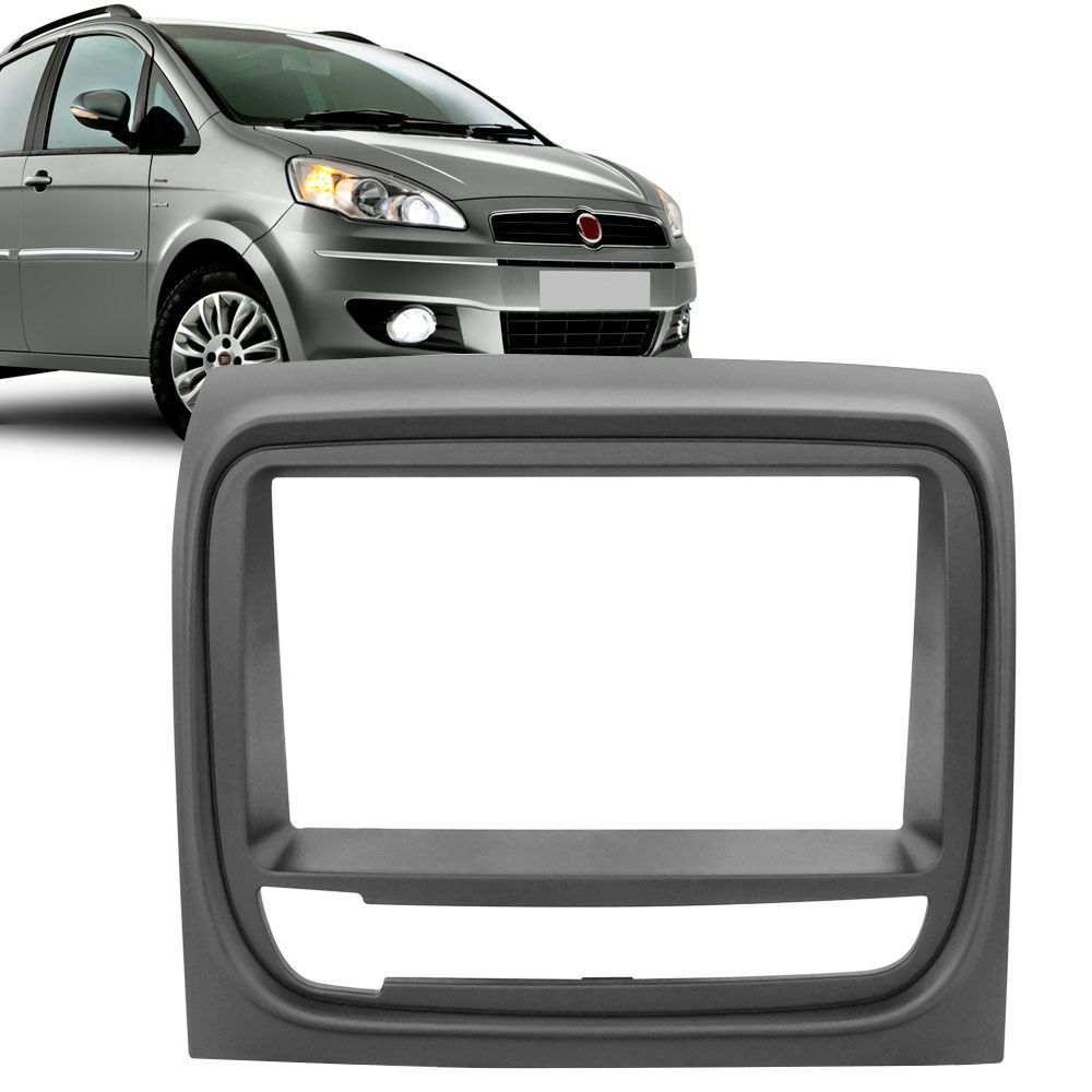 Moldura Painel 2 Din Fiat Idea Adventure Grafite