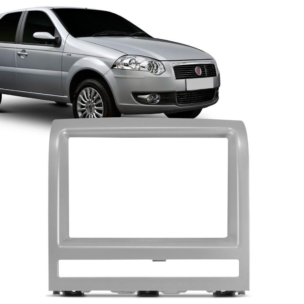 Moldura Painel 2 Din Fiat Palio Strada Adventure Idea Siena Prata  - AutoParts Online