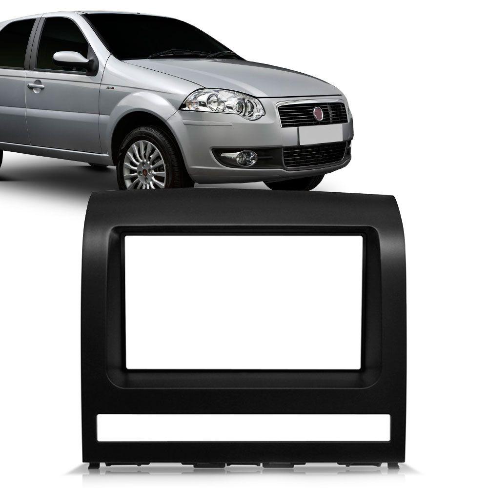 Moldura Painel 2 Din Fiat Palio Strada Adventure Idea Siena Preta  - AutoParts Online