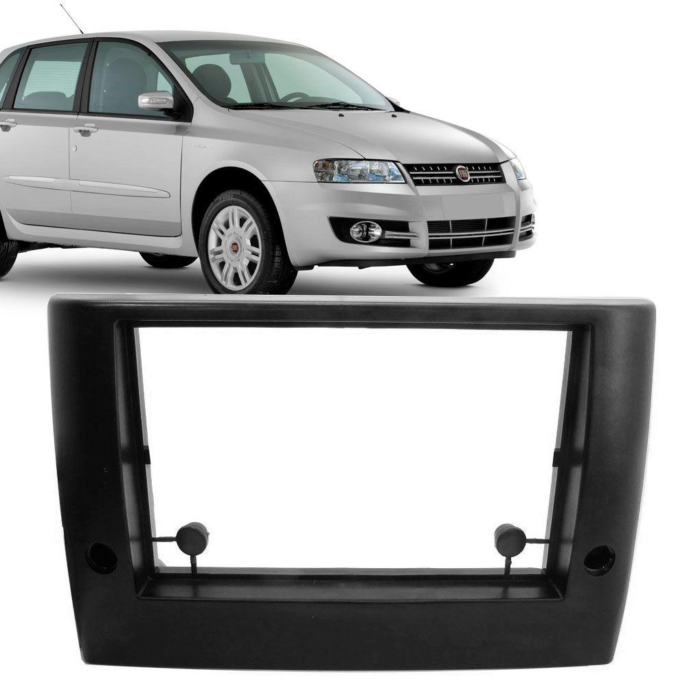 Moldura Painel 2 Din Fiat Stilo Preta  - AutoParts Online