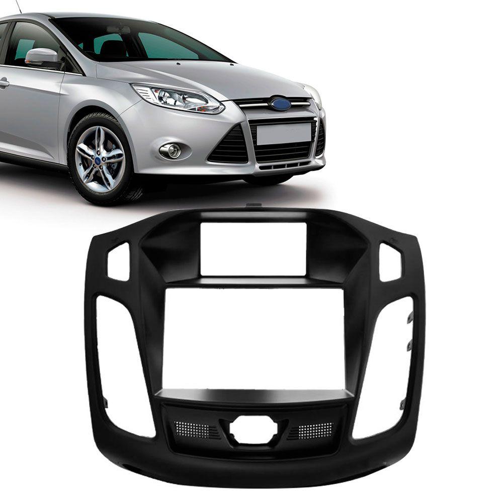 Moldura Painel 2 Din Ford Focus 2014 Preta  - AutoParts Online