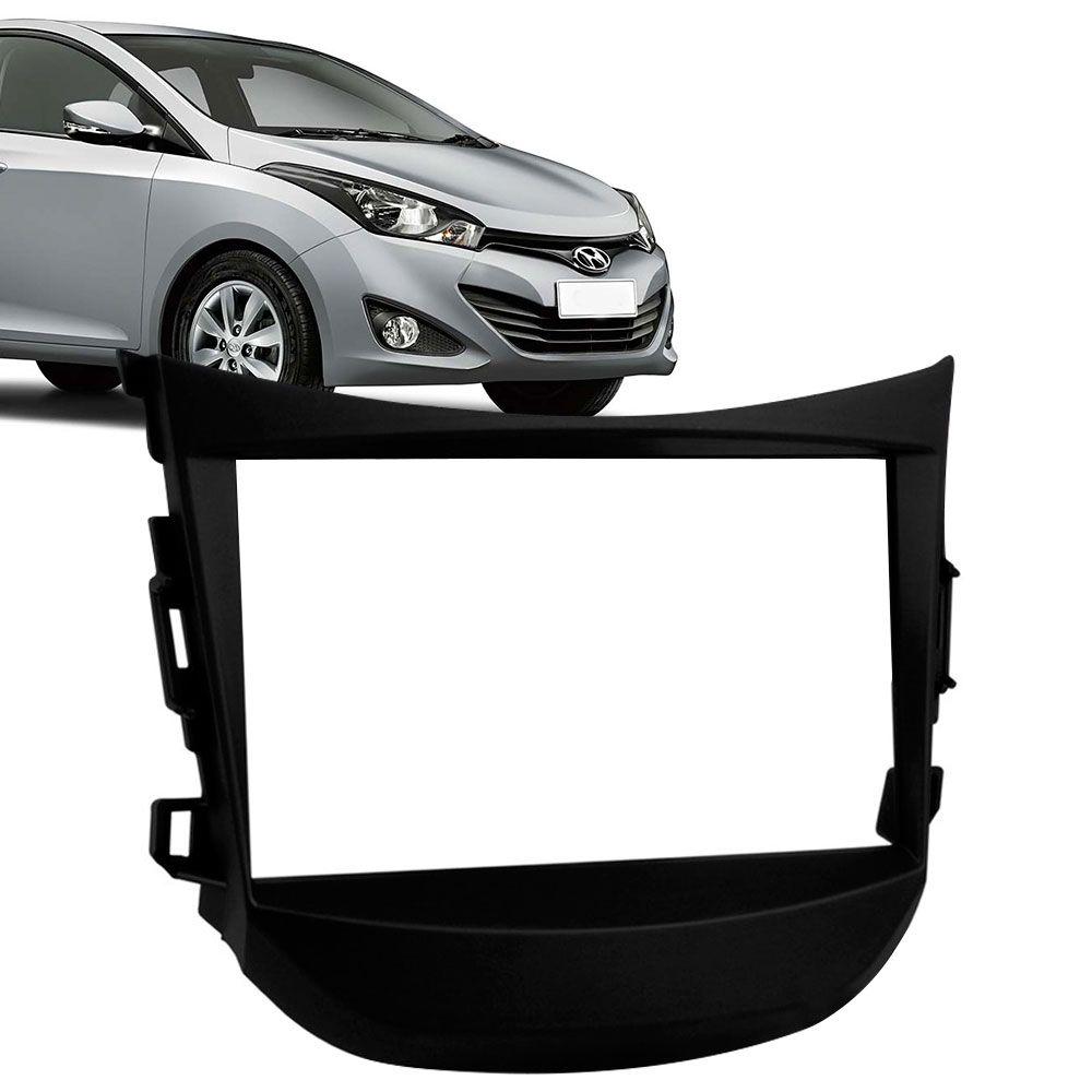 Moldura Painel 2 Din Hyundai Hb20 Preta  - AutoParts Online