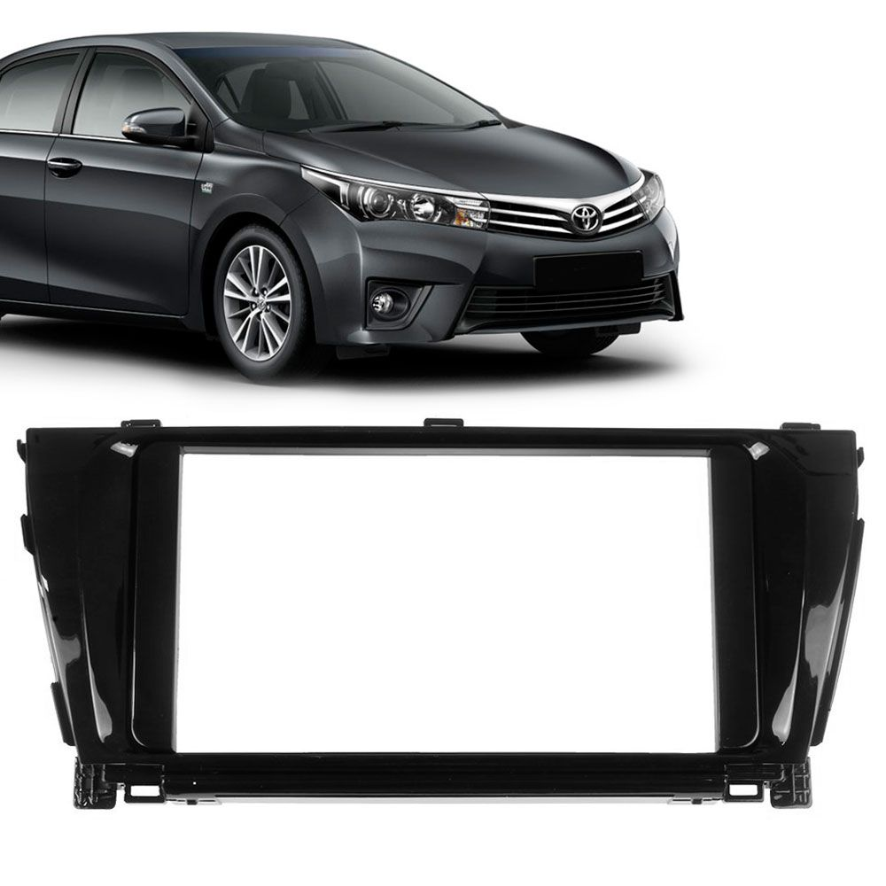 Moldura Painel 2 Din Toyota Corolla 2014 a 2015 Black Piano  - AutoParts Online