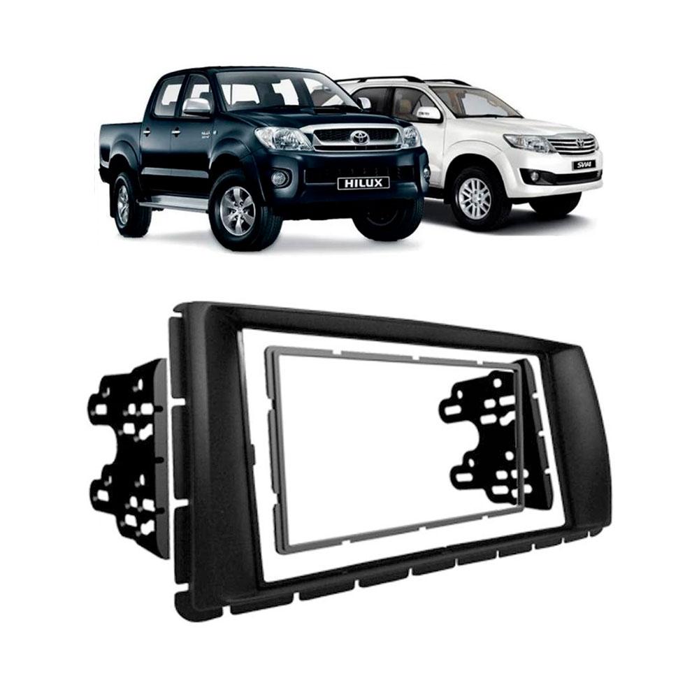 Moldura Painel 2 Din Toyota Hilux 2012 a 2013 Srv 2012 Preta  - AutoParts Online