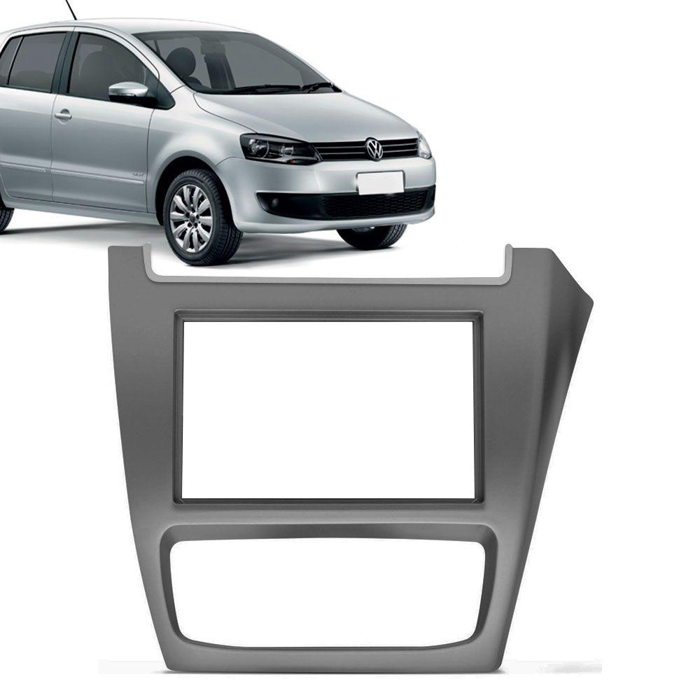 Moldura Painel 2 Din Volkswagen Fox 2014 Grafite  - AutoParts Online