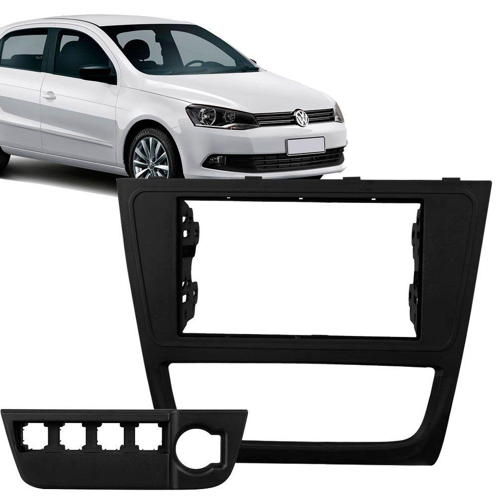 Moldura Painel 2 Din Volkswagen Gol Voyage G6 Black Piano  - AutoParts Online