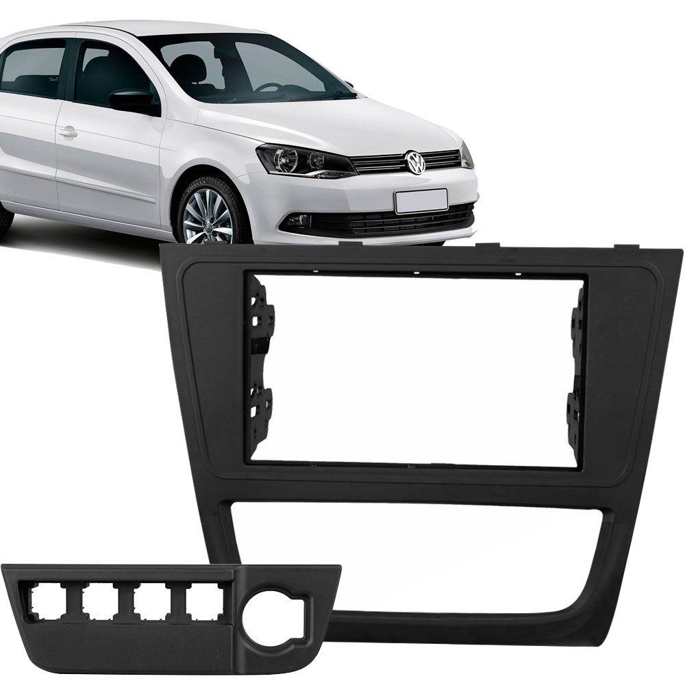 Moldura Painel 2 Din Volkswagen Gol Voyage G6 Preta  - AutoParts Online