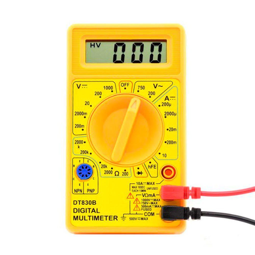 Multimetro Digital DT830B Display Lcd com Indicação de Bateria Fraca  - AutoParts Online