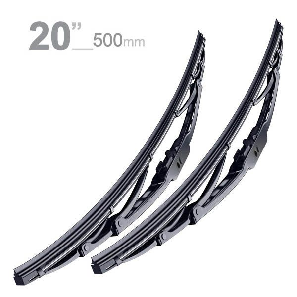 Par de Palhetas Limpador de Para-Brisa Dianteiro 500mm 20 Bosch  - AutoParts Online