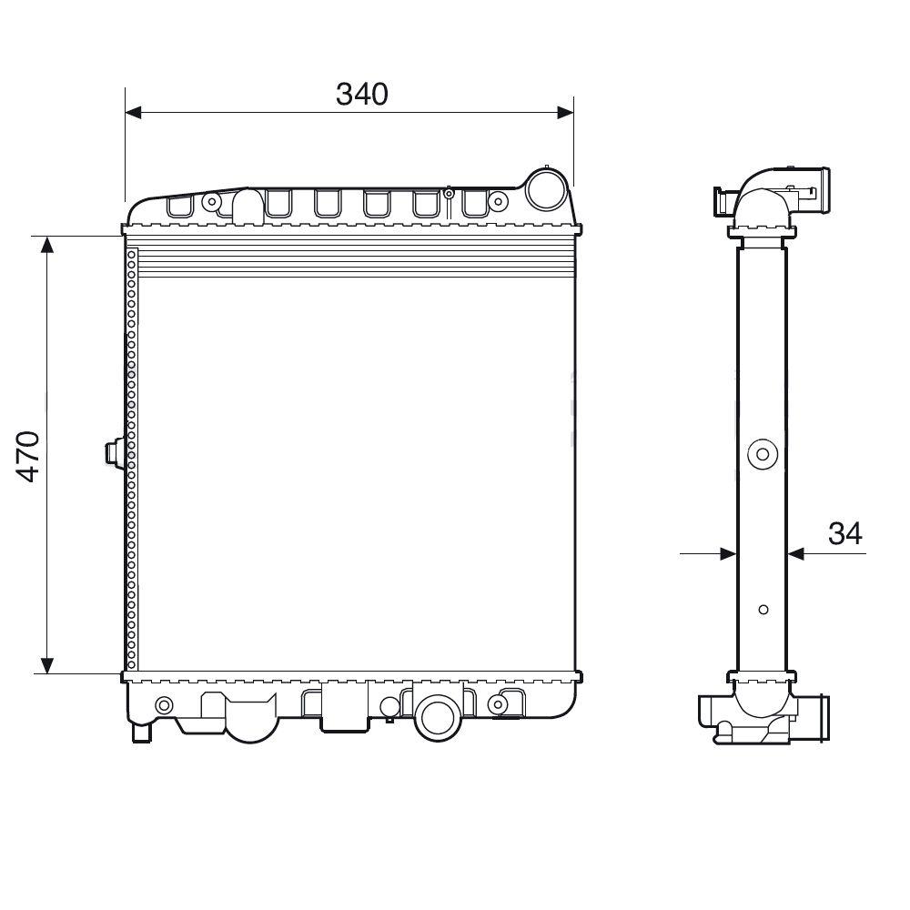 Radiador do Motor Ford Escort 1.6 1.8 16V 1997 em diante Com ou Sem Ar Condicionado  - AutoParts Online
