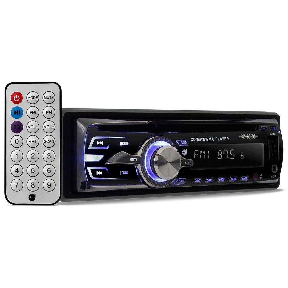 Rádio Automotivo Dazz DZ-65895BT CD Mp3 Player Usb AM FM  - AutoParts Online