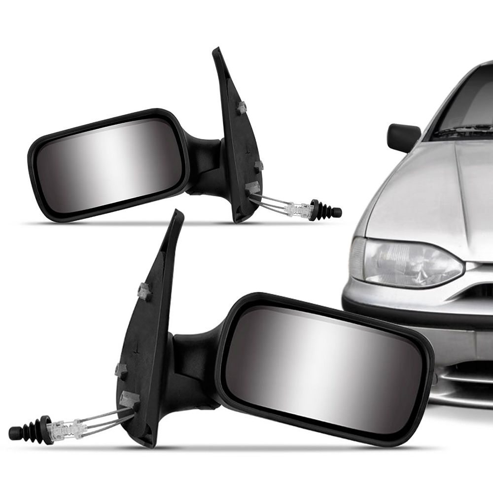 Retrovisor Externo Fiat Palio Siena 2 Portas 1996 a 2000 Controle Interno Manual Lado Direito 12461  - AutoParts Online