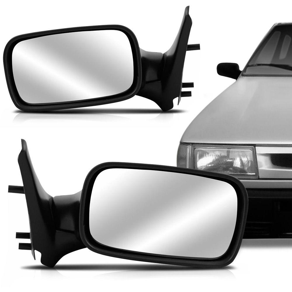 Espelho Retrovisor Manual Fiat Uno Fire 2001 a 2004 4 Portas Esquerdo  - AutoParts Online