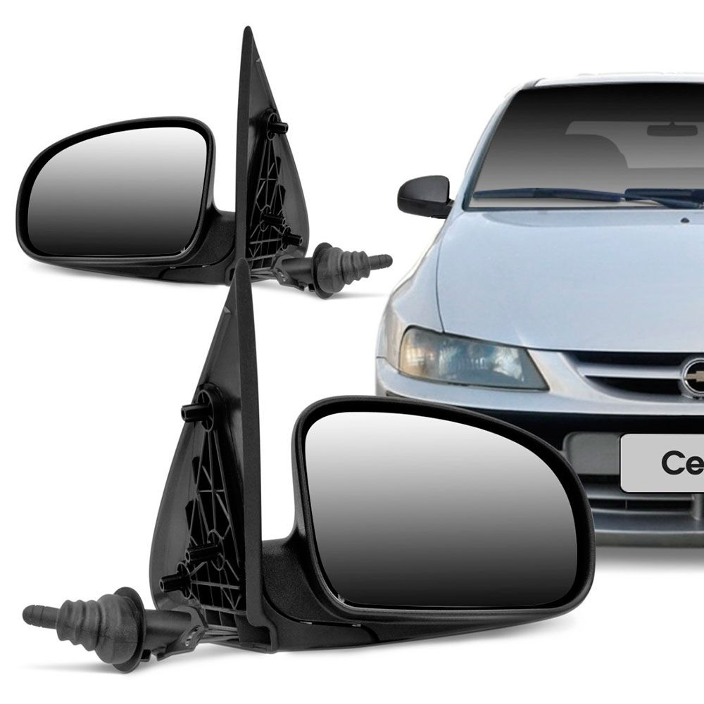 Retrovisor Externo Gm Celta 2000 a 2006 Com Controle Interno Lado Esquerdo RX229  - AutoParts Online