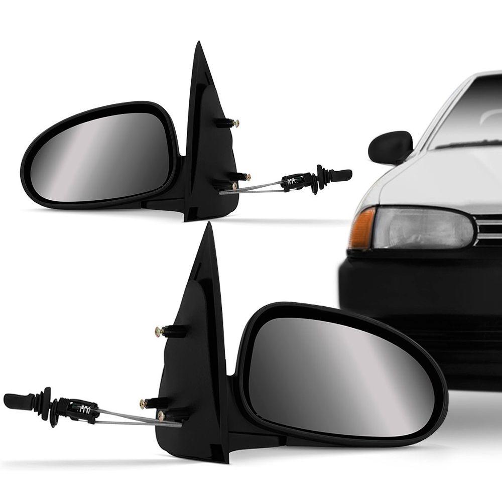 Espelho Retrovisor Controle Interno Vw Gol Parati Saveiro G2 1995 a 1998 4 Portas Esquerdo  - AutoParts Online