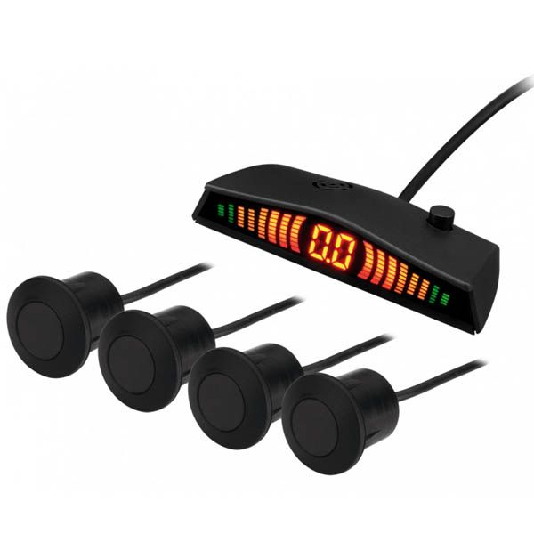 Sensor de Estacionamento Kx3 com Display Emborrachado Preto  - AutoParts Online