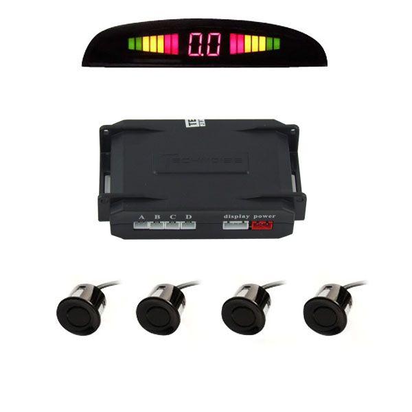 Sensor de Estacionamento Preto Brilho c/Display e Aviso Sonoro  - AutoParts Online
