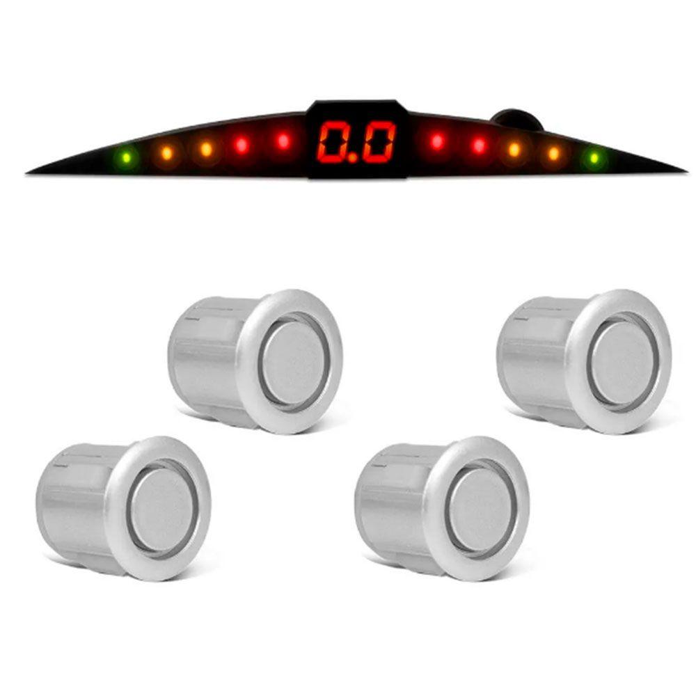 Sensor de Estacionamento Prime TechOne com Display 4 Pontos Cor Prata  - AutoParts Online